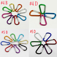200pcs Carabiner Snap #4 #5 Hook Hanger Keychain Hiking Camp...