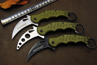 3 Styles EMERSON Wolf Karambit claw 5Cr13 blade ABS handle F...