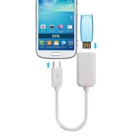 USB 2.0 femmina a micro USB Host maschio OTG On-The-Go Cable Adapter Superficie liscia per cellulare Android 3000Pcs