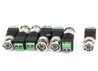10 pçs / lote Freeshipping CAT5 UTP para BNC Coaxial Mini Vídeo Coaxial Conector de Balun Adaptador De Alimentação CCTV Sistema de Câmera de Segurança IP