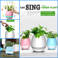 Creatives Touch sans fil Bluetooth Flowerpot Mini haut-parleur de subwoofer avec LED Plusieurs couleurs Accueil Smart Plant Office Mp3 Music Player Pot