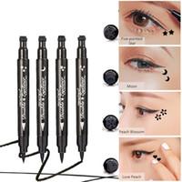 Heng Fang Mignon Double Tampon Eyeliner Stylo Séchage Rapide Lisse Imperméable Étanche Anti-taches Doublure Yeux Noirs Maquillage
