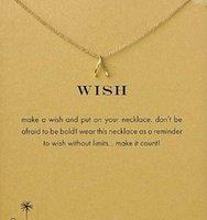 Collar Dogeared con colgante de horquilla (Wish) (Gracias), noble y delicado, sin fundido, envío gratuito y alta calidad