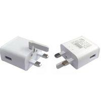 100pcs / lot 9V-1.67A o 5V-2A Plug Wall per Samsung Galaxy Nota 4 S6 N9100 Adaptive Fast Charger UK