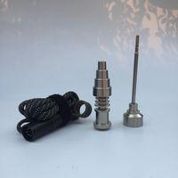 16mm 20mm Enail Dnail Coil Heater kit 6 in 1 Chiodo in titanio Domeless con tappo in carb di titanio per Temp controller PID Box
