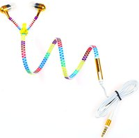 Rainbow Zipper Earphone glow in dark Colorful Luminous Headp...