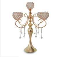 elegante alto candelabro da 5 braccia da sposa con pendenti in cristallo per eventi di decorazione centrotavola da sposa
