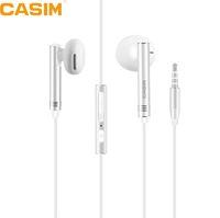 CASIM 새로운 3.5mm 유니버셜 메탈 음악 이어폰 1.2M 구리 와이어 이어폰 소음 차단 스테레오 메탈 플랫 귀마개 이어 버드