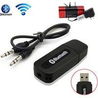 Stereo Müzik Bluetooth Dongle Alıcı Kiti Kablosuz USB Bluetooth Alıcısı Akıllı Telefonlar Için 3.5mm Jack Ses Kablosu ile