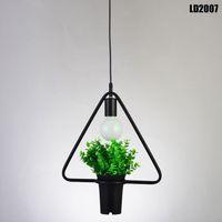 подвесной светильник люстра Кристалл стиль chihuly люстры геометрические растения горшок Железный квадрат круглый подвеска люстра для декора ресторан