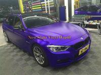 Высокое качество фиолетовый матовый металлик фиолетовый атлас хром винил кузова фильм воздушный пузырь бесплатно для стайлинга автомобилей