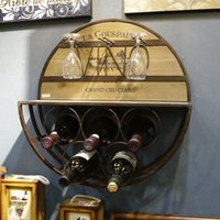 Wood Red Wine Rack & Glass Holder Wall Decoration Display Ra...