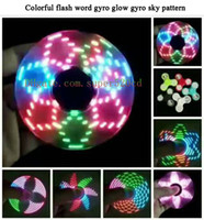 Hand spinner gyro colorful flash gyro glow gyro gorgeous sta...