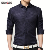 Wholesale- 2017 Brand New Men Shirt Male Dress Shirts Men&#0...