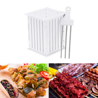 BBQ Tools Plastic Meat Kabob Maker Box Skewers Spiedini Keba...