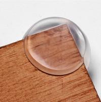 Köşe Muhafızlarının, Bebek Çocuk Çocuk Silikon Köşe SERBEST GLUE'den dege Toptan Yumuşak Temizle kauçuğu topu cam masa masa