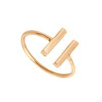 Preço de fábrica FashionDouble Bar Anel de Prata de Ouro Rosa Banhado A Ouro Presentes do Partido Felicidade Amizade Anéis para As Mulheres Podem Misturar Cor EFR033