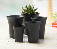 4 Inch Diameter 5. 1 Inch Height Dull Polish Plastic Pots for...