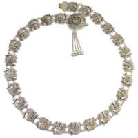 Bohemian Gümüş Alaşım Moda Fil Vücut Zincir Çan Püskül Oyma Oyma Çiçek Bel Göbek Zinciri Oymak