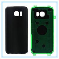 10 pcs / lot D'origine Nouveau Verre Boîtier Arrière Couverture Avec Autocollant pour Samsung Galaxy S7 Bord G935 G935F Arrière Batterie Porte Pièces De Rechange