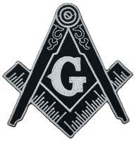 Горячие продажи! Масонский компас патч Вышитые Iron-On Одежда масоном Lodge Emblem Mason G знак Шить на любой одежды Бесплатная доставка