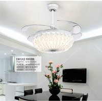 42 Zoll 107 Cm Unsichtbare Deckenventilator Moderne / Zeitgenössische Weiße  Feature Für LED Metall Schlafzimmer Esszimmer