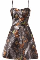 2017 New Sexy A Line Short Camo Prom Dresses Camouflage Homecoming Dresses Party Cocktail Gowns QA018