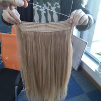 Wholesale halo hair extensions buy cheap halo hair extensions easy wear flip in human hair extension 8 30 inch 1piece brazilian human hair halo hair extension all color pmusecretfo Image collections