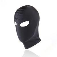Nouveau harnais de tête masque de cuir cagoule bondage avec bandeau sur les yeux BDSM contrainte de retenue œil creuse couverture harnais Kinky Sex Toys pour les couples