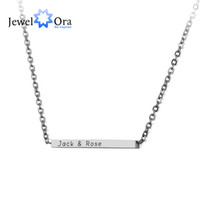 Personalized Name Necklace DIY Stainless Steel Engraved Bar ...