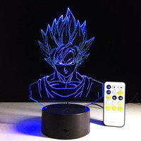 Goku Dragon Ball 3D Illusion Lamp RGB Colorful Night Light U...