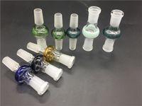 Красочные 10 стили стекло, адаптер для воды бонг 14.4 мм 18,8 мм совместное мужской женский адаптер для курения бонги чаша купола ногтей