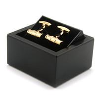 Affichage Rotatif Boutons de manchettes Black Box Boîtes de rangement à bijoux ultra léger Matériel plastique
