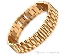Watch Band Style 15mm Width 316L Stainless Steel Gold Plated...