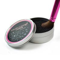 3 segundos de color apagado !! Limpiador de pinceles de maquillaje Limpiador de esponjas Color del pincel de sombra de ojos Limpiador de herramientas de esponja, lavado rápido
