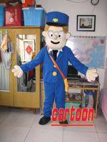 Hot High Quality Real Pictures Postman Pat Mascot Kostym Gratis frakt