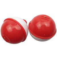 25pcs plástico ABS Diámetro Pesca del flotador de bola de 1 pulgada 1.5inch 1.25inch 2 pulgadas Push Button la pesca en mar flotadores anzuelos