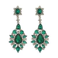 idealway 4 colores de moda las mujeres de moda estilo italina plateado Rhinestone lleno de cristal gota cuelga los pendientes