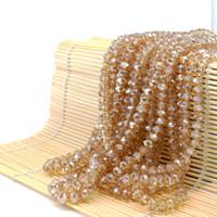Стекло Rondelle бусины пластины золотой цвет тени