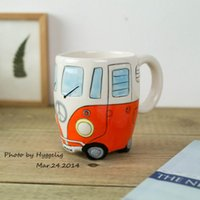 Puckator Bus Mug Car Shaped Ceramic Tea Coffee Wate Milk Jui...