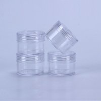 15 Gram Rechargeables Petit plastique bouchon à vis du couvercle avec la base transparente Vider Jars Récipient en plastique pour les bouteilles d'eau Nail Eye Shadow Container Lot