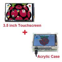 """Бесплатная доставка Raspberry Pi 3 сенсорный экран 3.5 """" ЖК-TFT сенсорный экран + стилус + прозрачный акриловый чехол коробка для Raspberry Pi 2"""