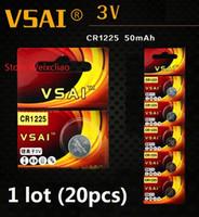 20 stücke 1 los CR1225 3 V lithium li ion knopfzelle CR 1225 3 Volt li-ion münzbatterien VSAI Freies Verschiffen