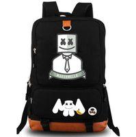 قناع نجمة ظهره Marshmello daypack DJ leader schoolbag الموسيقى حقيبة الظهر الرياضة حقيبة مدرسية في الهواء الطلق حزمة اليوم