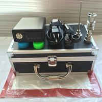Inteligente E Quartz Nails dab prego dabber caixa dab rig elétrica Digital controle de temperatura de cera seco vape com Domeless Tutanium quartz banger prego