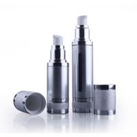 10 pz 50 ML Argento Opaco Vuoto Profumo Atomizzatore Pompa Vuoto Airless Bottiglia Cosmetica Trucco Packaging Per Il Viaggio all'ingrosso EB102