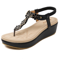 Bohemian Platform Wedges Women Shoes Sandals For Lady High P...