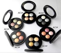 Freies Verschiffen 2017 neues Make-up mineralisiert 4 Farben Lidschatten (6pieces / lot)