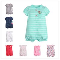 Short Sleeve Girls Rompers Jumpsuit Baby Infant Toddler Clot...