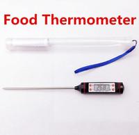 Freeshipping 100pcs / lot 주방 조리 식품에 대한 바베큐 온도 측정기 LCD 디지털 프로브 온도계 소매 상자와 Termometro 테스트